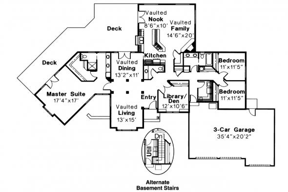 Ranch House Plan - Bainbridge 10-049 - Floor Plan