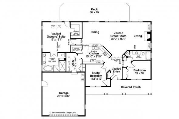 Ranch House Plan - Fern View 30-766 - Floor Plan