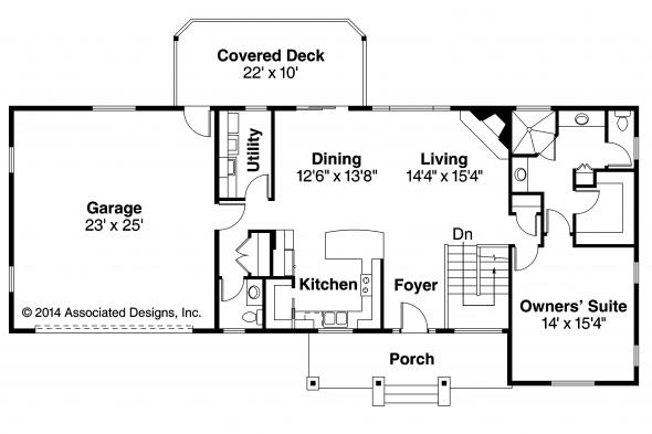 Ranch House Plan - Gatsby 30-664 - First Floor Plan