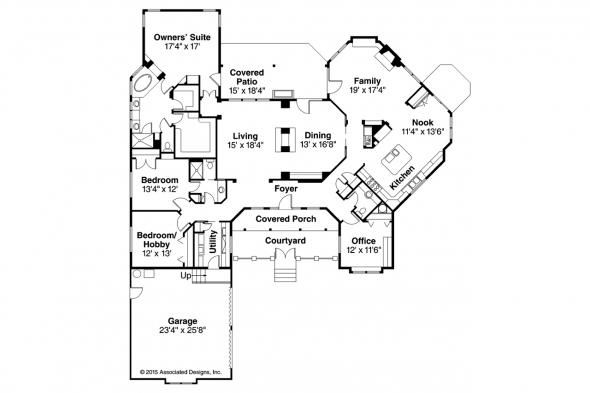Ranch House Plan - Gideon 30-256 - Floor Plan