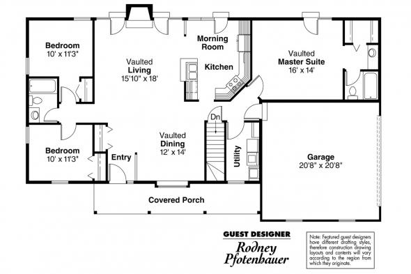 Ranch House Plan - Glenwood 42-015 - Floor Plan