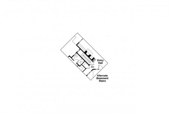 Ranch House Plan - Heartview 50-015 - Alternate Basement Option