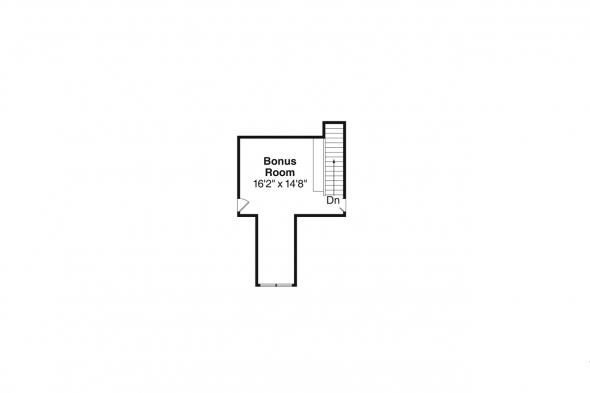 Ranch House Plan - Jamestown 30-827 - Bonus Room Floor Plan