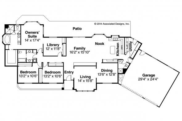 Ranch House Plan - Magnolia 11-073 - Floor Plan