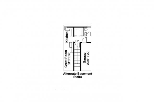 Ranch House Plan - Ottawa 30-601 - Alternate Basement Stair