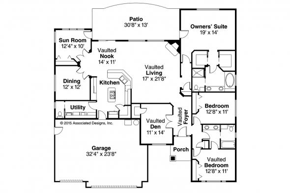 Ranch House Plan - Ryland 30-336 - Floor Plan