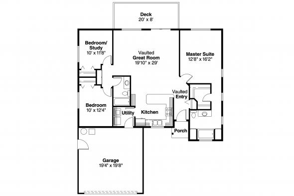 Ranch House Plan - Tyson 30-495 - Floor Plan