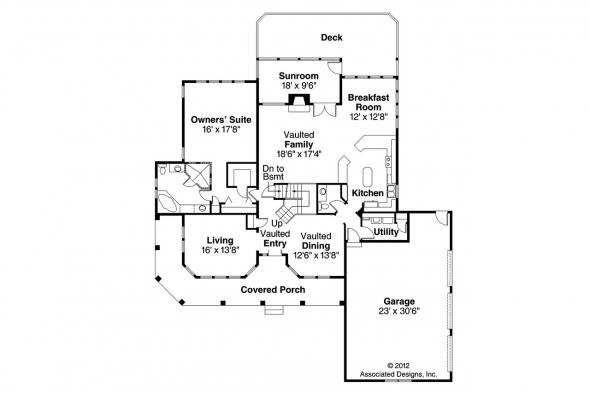 Southwest House Plan - Artesia 10-168 - 1st Floor Plan