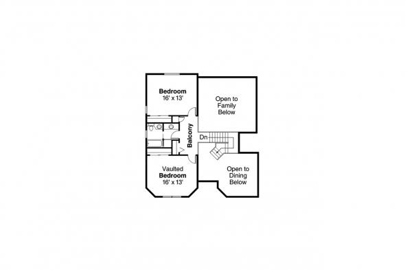 Southwest House Plan - Artesia 10-168 - 2nd Floor Plan