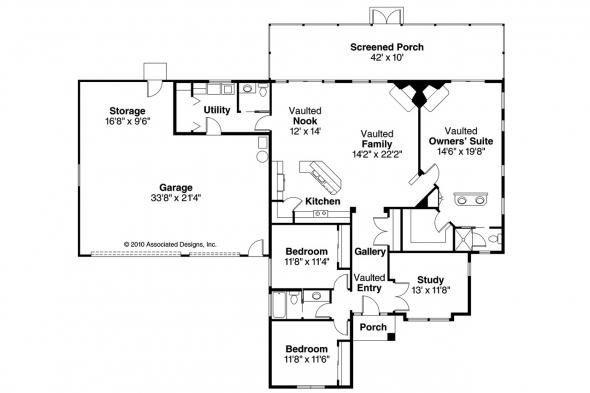 Southwest House Plan - Medina 10-188 - Floor Plan
