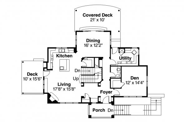 Southwest House Plan - Santa Rosa 30-800 - 1st Floor Plan