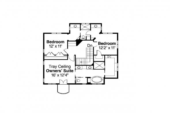 Southwest House Plan - Santa Rosa 30-800 - 2nd Floor Plan