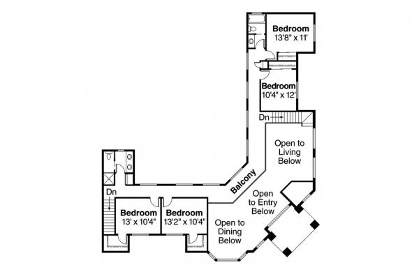 Southwest House Plan - Savannah 11-035 - 2nd Floor Plan