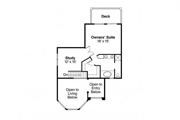 Southwest House Plan - Warrington 11-036 - 2nd Floor Plan