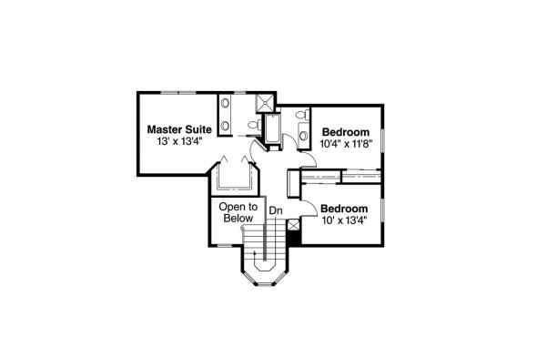 Spanish Style House Plan - Villa Real 11-067 - 2nd Floor Plan