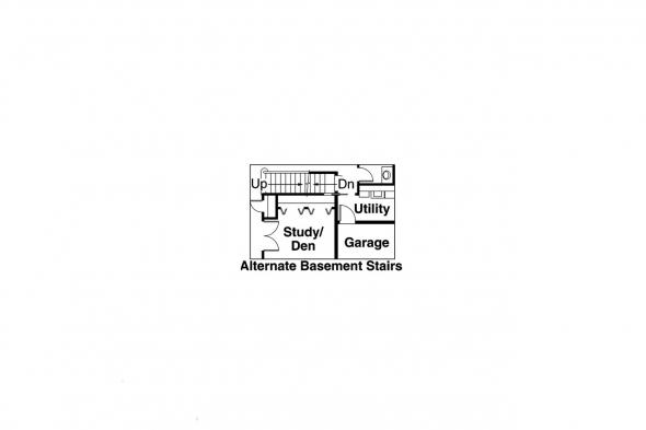 Traditional Home Plan - Claredon 30-564 - Alternate Basement Option