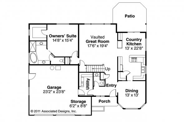 Traditional House Plan - Albany 30-047 - 1st Floor Plan