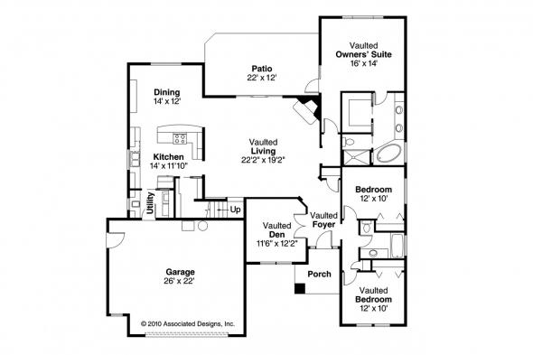 Traditional House Plan - Anderson 30-467 - 1st Floor Plan