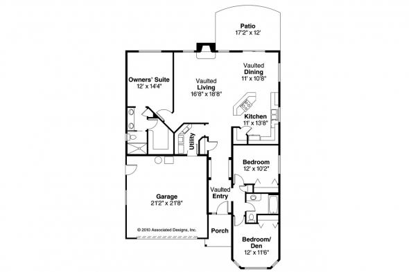 Traditional House Plan - Ashland 30-191 - Floor Plan