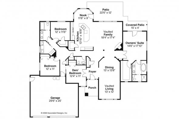 Traditional House Plan - Bennett 30-281 - Floor Plan