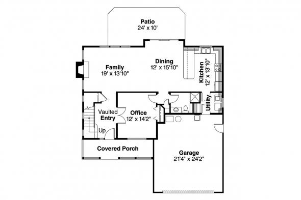 Traditional House Plan - Brighton 30-331 - 1st Floor Plan
