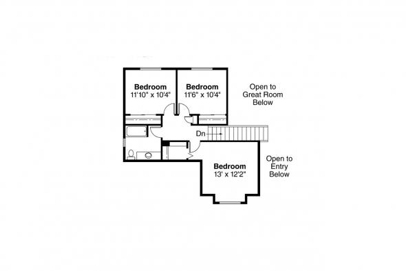 Traditional House Plan - Chivington 30-260 - 2nd Floor Plan