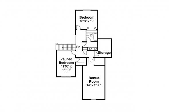 Traditional House Plan - Claredon 30-564 - 2nd Floor Plan