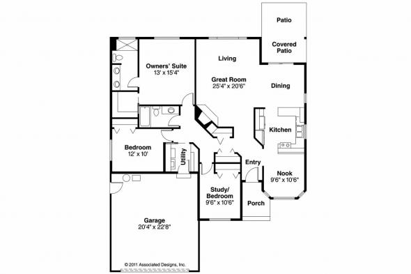 Traditional House Plan - Emory 30-319 - Floor Plan