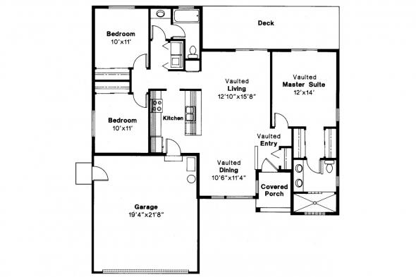 Traditional House Plan - Evanston 10-112 - Floor Plan