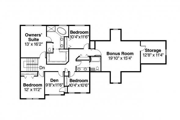 Traditional House Plan - Glenhurst 30-372 - 2nd Floor Plan