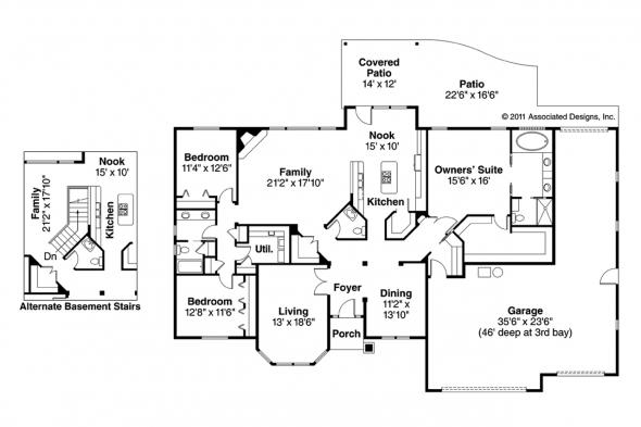 Traditional House Plan - Hollyview 30-554 - Floor Plan
