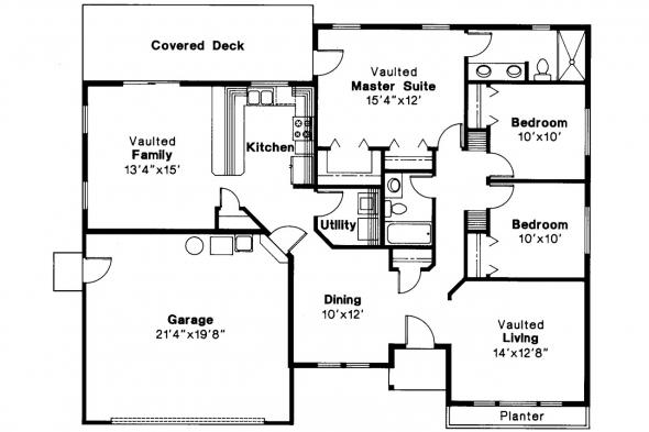 Traditional House Plan - Jerico 10-042 - Floor Plan