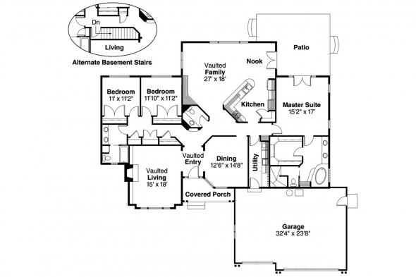 Traditional House Plan - Jessica 30-049 - Floor Plan