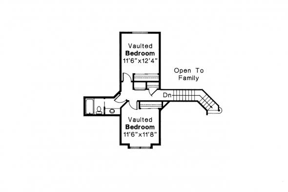 Traditional House Plan - Melrose 10-047 - 2nd Floor Plan