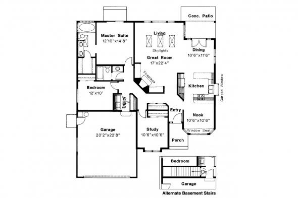Traditional House Plan - Monroe 10-072 - Floor Plan