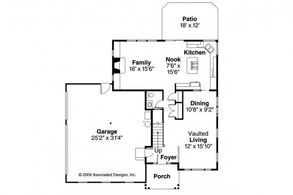 Traditional House Plan - Olivia 30-219 - 1st Floor Plan