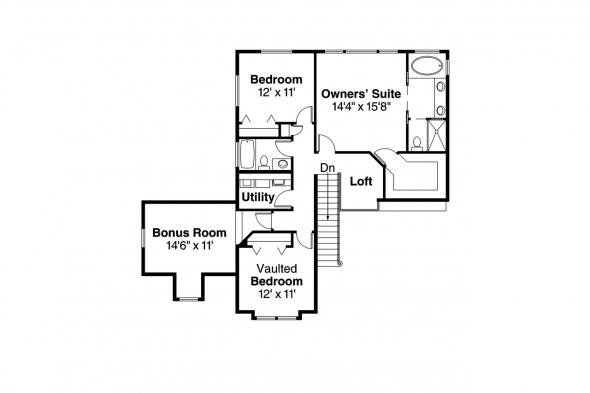 Traditional House Plan - Olivia 30-219 - 2nd Floor Plan