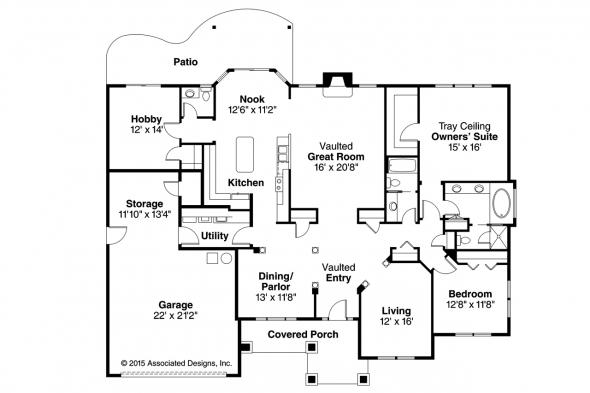 Traditional House Plan - Parkcrest 30-561 - Floor Plan