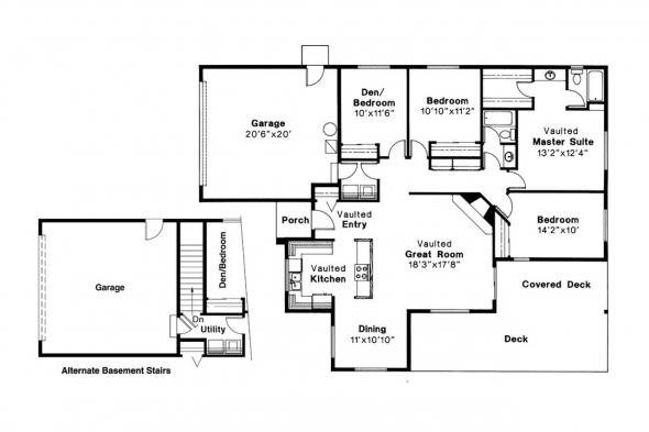Traditional House Plan - Shelton 10-033 - Floor Plan