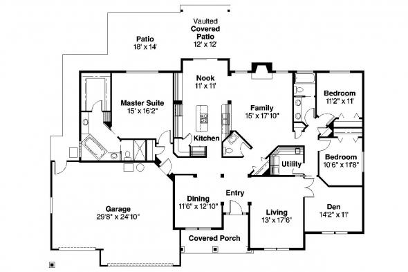 Traditional House Plan - Spencer 30-537 - Floor Plan