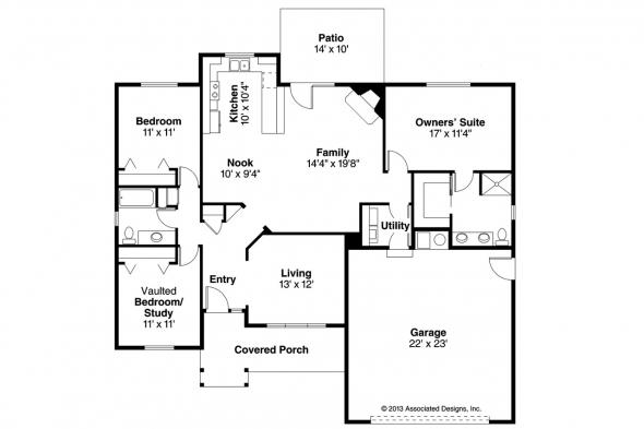 Traditional House Plan - Walsh 30-247 - Floor Plan