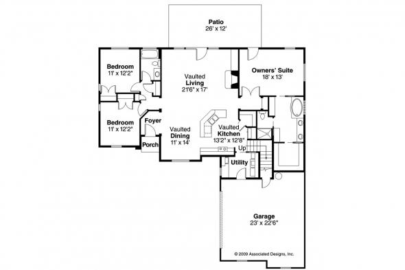 Traditional House Plan - Willcox 30-232 - 1st Floor Plan
