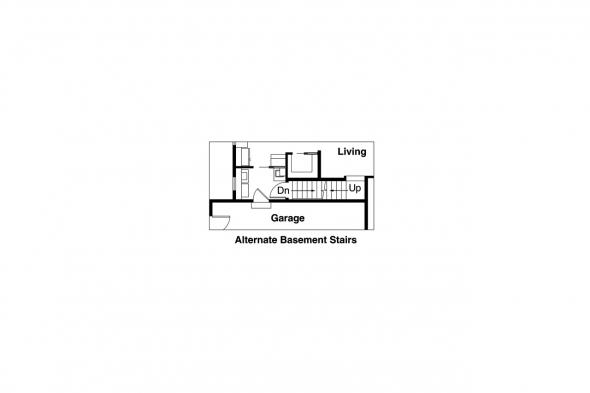Traditional House Plan - Anderson 30-467 - Alternate Basement Option