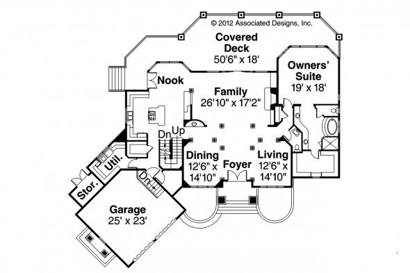 Tudor House Plan - Addison 30-795 - 1st Floor Plan