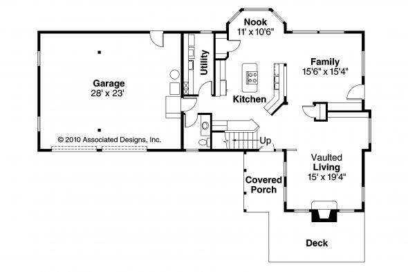 Tudor House Plan - Walcott 30-166 - 1st Floor Plan