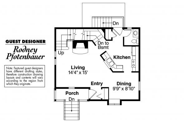 Victorian  House Plan - Langston 42-027 - First Floor Plan