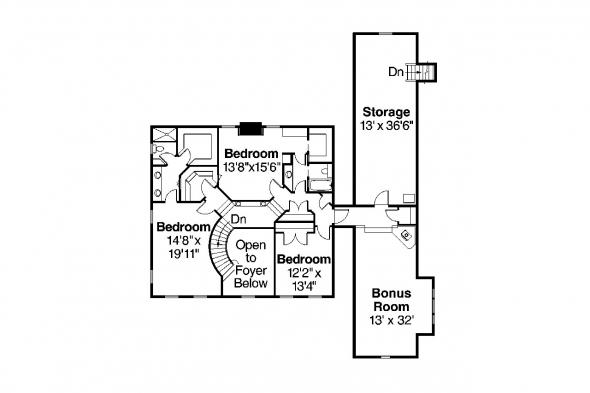 Victorian House Plan - Randell 30-395 - Second Floor Plan