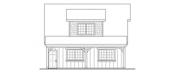 2 car Garage w/Attic - Garage Plans - Left Elevation