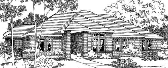 Rosewood - 10-402 - Contemporary Home Plans - Front Elevation