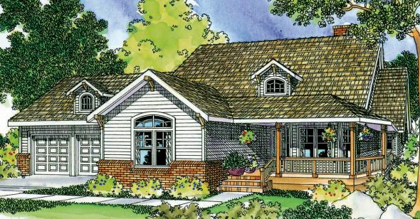 Clearheart - 10-410 - Country Home Plan - Front Elevation